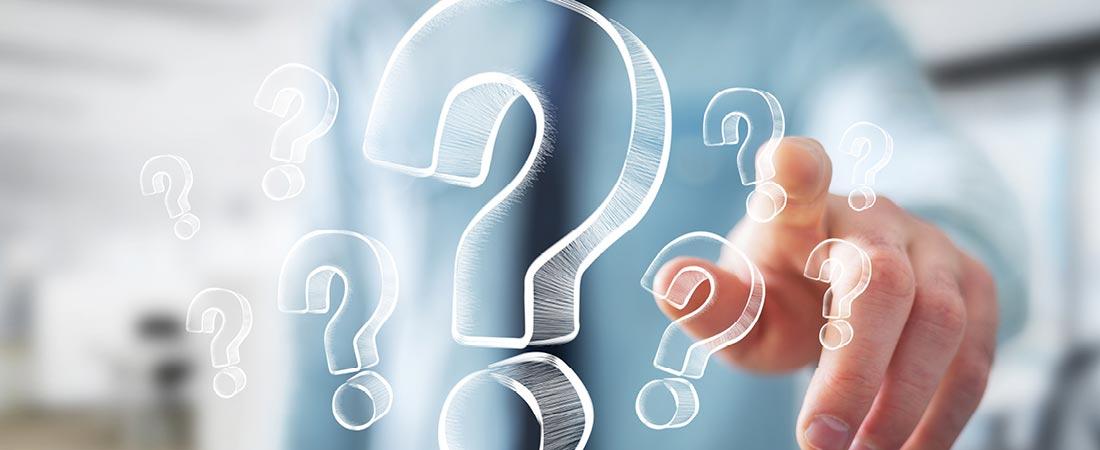 spørgsmålstegn - ofte stillede spørgsmål